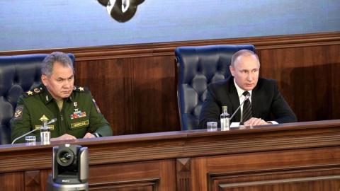 Путин и Шойгу положительно о…