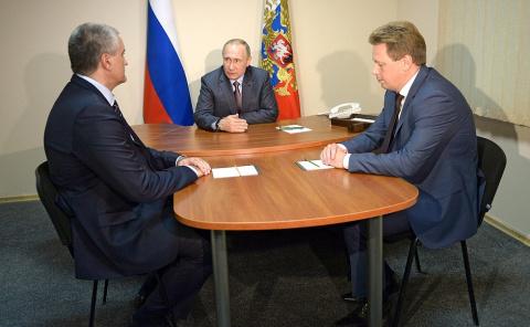 Встреча с руководителями Республики Крым и Севастополя