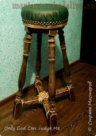 Антикварный стульчик в стиле кантри. Мастер-класс