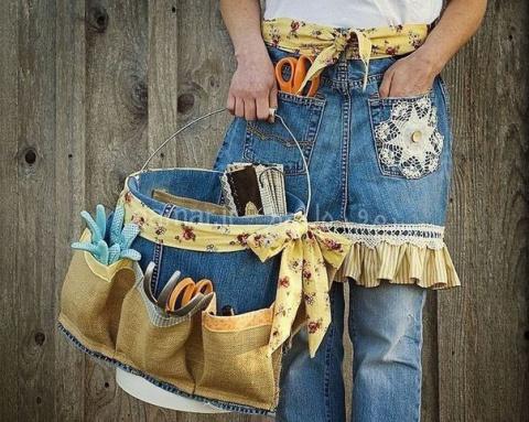 Фартуки из старых джинсов. Как вам идеи? ...