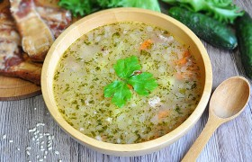 Картофельный суп с перловкой…