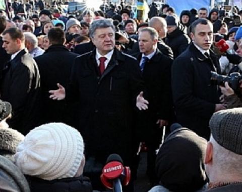 Порошенко сбежал от украинце…