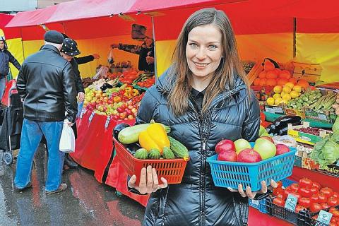 На московских рынках снижают цены на овощи и фрукты