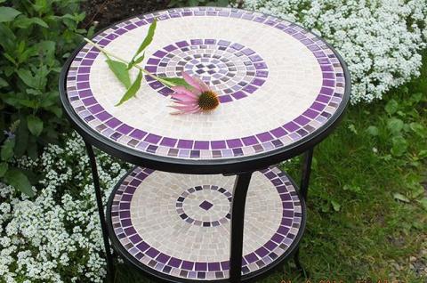 Мозаика своими руками: украшаем дачный стол