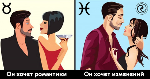 Что он хочет в отношениях VS что ему нужно от отношений, согласно астрологии