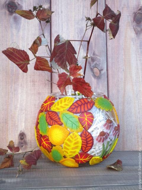 Ваза «Осенняя фантазия» с де…