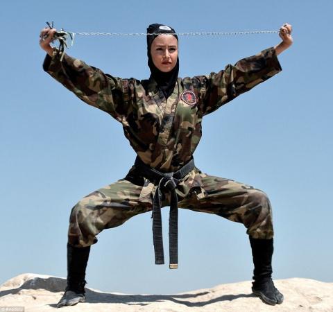 Иранские женщины-ниндзя - см…