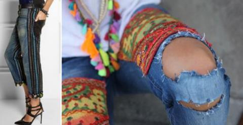 Бохо джинсы. 18 Отличных иде…