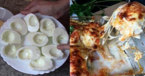 Непритязательный рецепт Запеканка из яиц с мясным фаршем