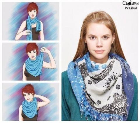 Семь способов носить шарф осенью