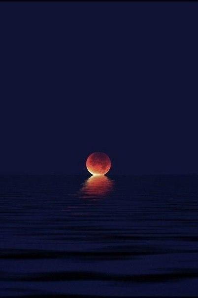 Поцелуй луны и моря...