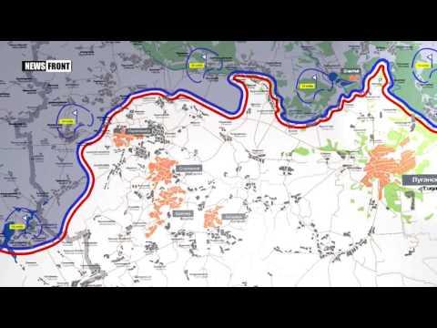 ЛНР: карта обстрелов со стороны ВСУ. 4 июля 2017