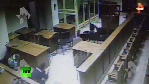 Новое видео перестрелки в Мособлсуде с бандой ГТА