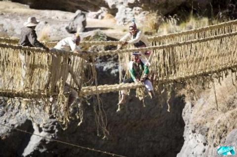 Qeswachaka - висящий мост в …