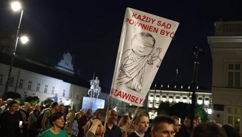 В Польше второй день продолжаются массовые акции протеста