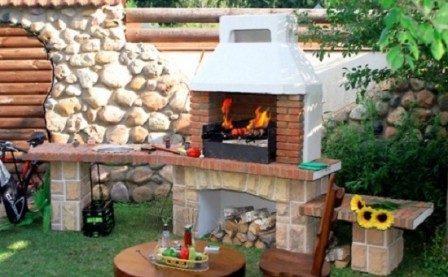 Оформление места для шашлыка на даче