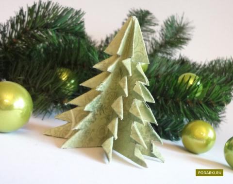 Ёлочка-оригами