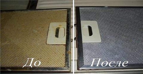 Теперь удалить застывший жир с фильтра кухонной вытяжки легко!