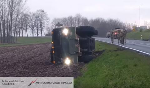 Танки грязи испугались: американская военная техника застряла в Польше