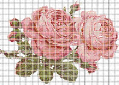 Вышивка роз.