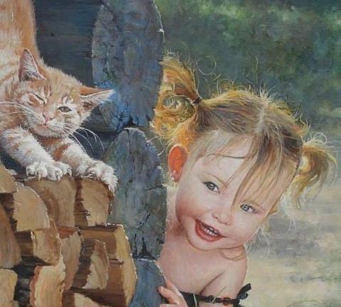 Детство в картинах от художника Леоновича В.Н