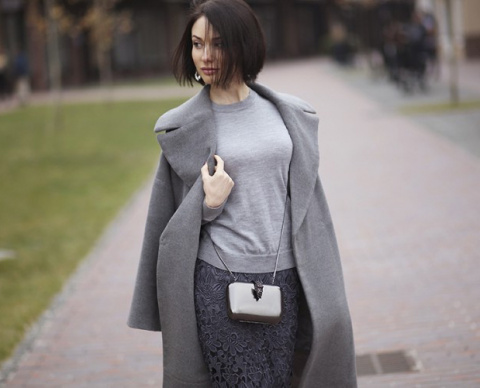 С чем носить серое пальто, чтобы выглядеть стильно