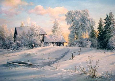 Зима в творчестве Вячеслава Палачёва