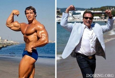 Арнольд Шварценеггер на пляж…