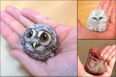 17 фото, на которых камни превращены в невероятно живых и милых существ