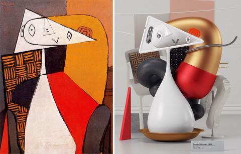 6 трехмерных репродукций картин Пабло Пикассо