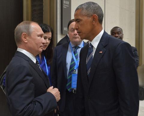 Фото дня_Путин и Обама: смер…