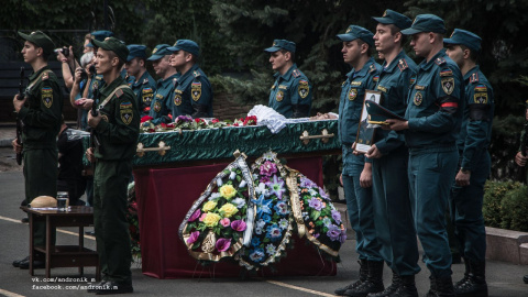 В Донецке попрощались с работником МЧС, погибшим в ходе обстрела ВСУ