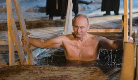 Окунувшийся в прорубь Путин …