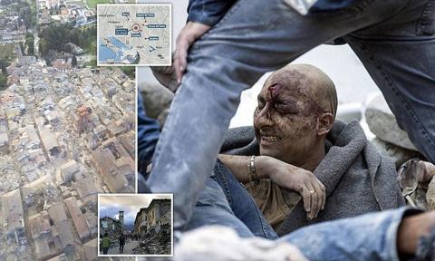 """Мощное землетрясение в Италии: """"Мы слышим, как под завалами кричат дети"""""""