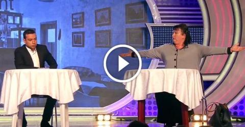 Штирлиц встречается с женой в кафе…