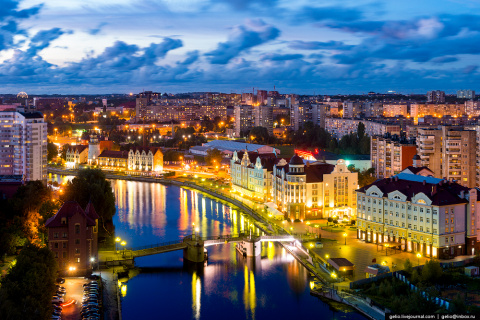 Калининград с высоты: самый «европейский» город России