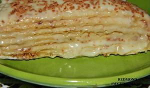 Тортик с банановым кремом.
