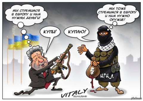 Боевики ИГИЛ пригрозили «резать» украинцев за поставленное оружие