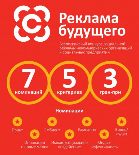 Некоммерческие организации и социальные предприятия приглашаются к участию во всероссийском конкурсе социальной рекламы «Реклама Будущего»