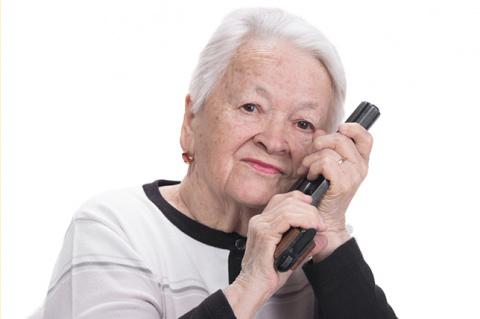 Пожилая леди поразила полице…