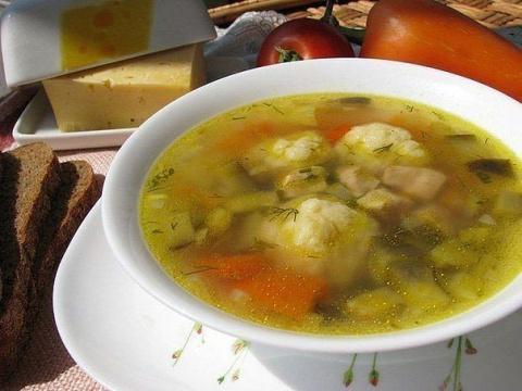 Волшебный суп с сырными шари…