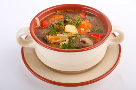 Суп грибной с помидорами по Крестьянски