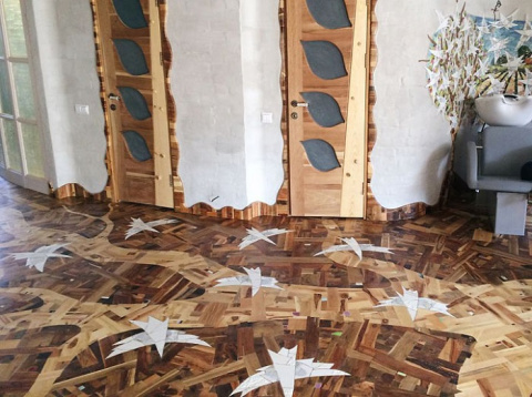 Чудо плотницкого искусства - мозаичный деревянный пол своими руками