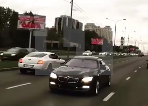МВД распрощалось с сотрудником полиции, ехавшем в свадебном кортеже, нарушая ПДД в ценре Москвы