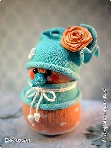 Снеговички из носочков. Идеи для творчества