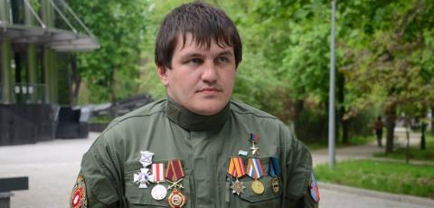 Ополченец воюющий в Донбассе…