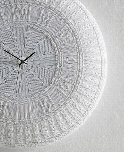вязанные часы