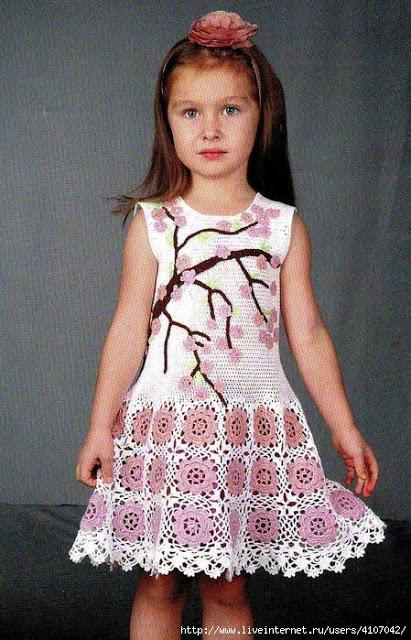 Платье Веточка сакуры для де…