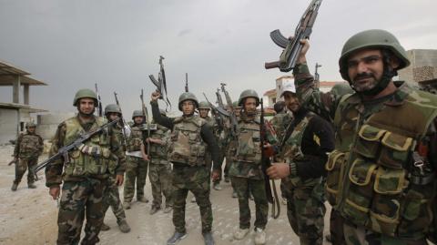 Сирийские войска наносят сок…