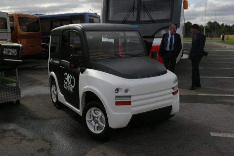 Российские инженеры создали электромобиль на четырех моторах